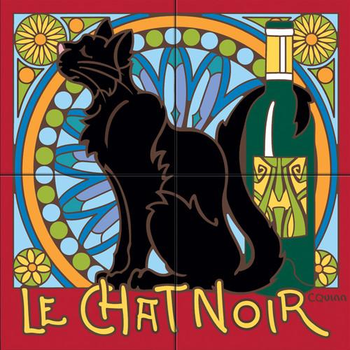 12x12 Tile Mural Le Chat Noir