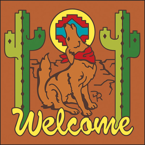 6x6 Tile Welcome Coyote Terracotta 7945R