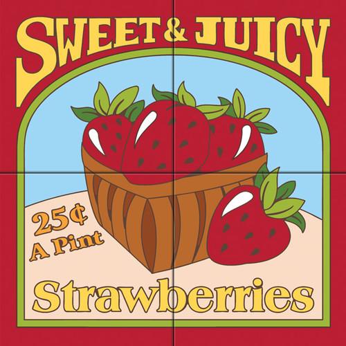12x12 Tile Mural Strawberries