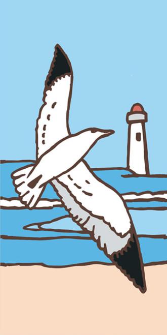 3x6 Tile Seagull (Sand)