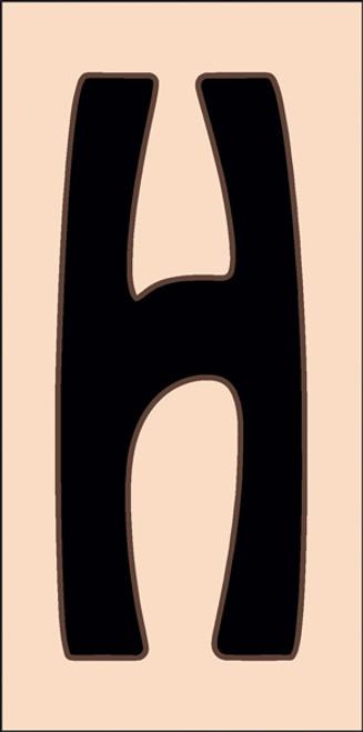 3x6 Tile House Letter H Sand