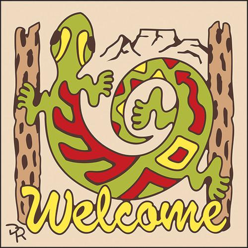6x6 Tile Welcome Gecko Sand 7947A