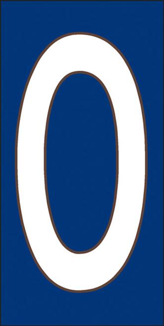 3x6 Tile House Letter O White on Cobalt