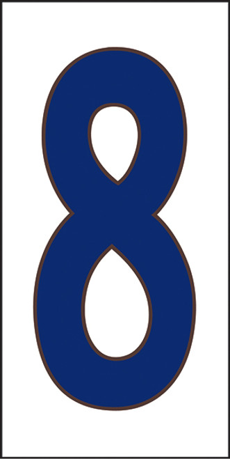 33X6 Number 8 White Background