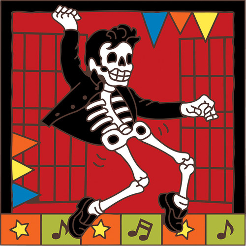 6x6 Tile Day of the Dead Elvis7653A