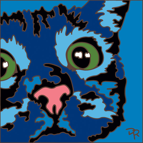 6x6 Tile Abstract Cat I
