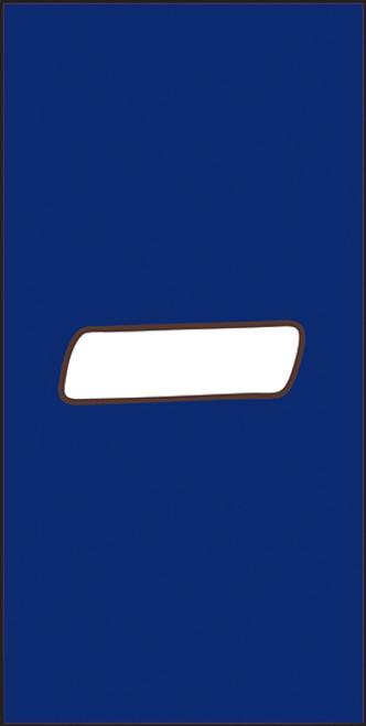 3X6 Number - Cobalt Background