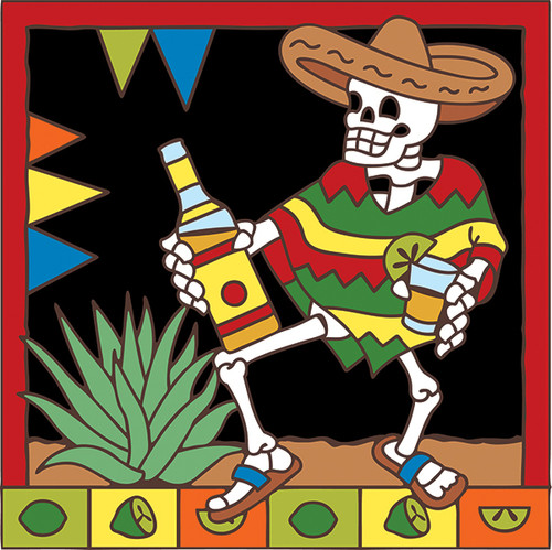 6x6 Tile Day of the Dead Tequila 7734A