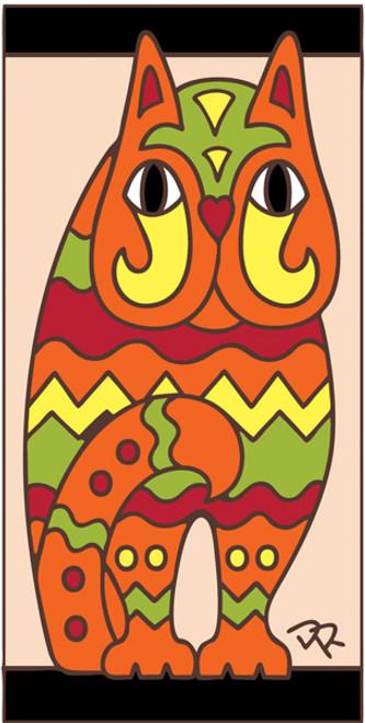3x6 Tile Fancy Cat Sand 3017A