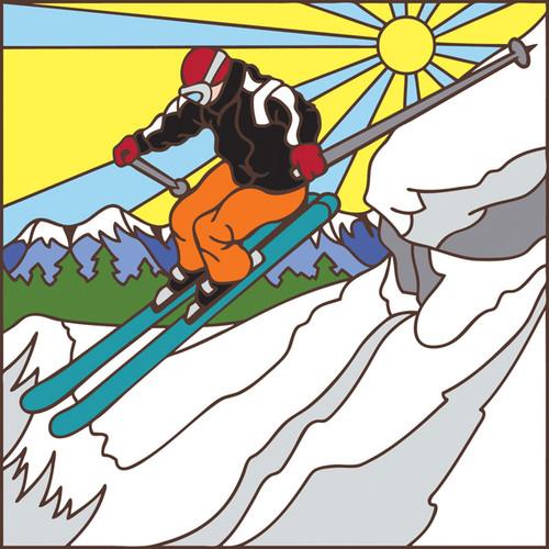 Snowboarder Tile