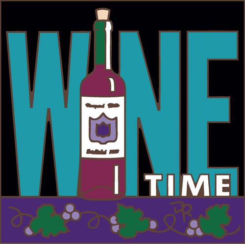 6x6 Tile Wine Time