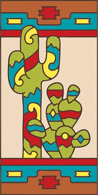 3x6 Tile Southwest Cactus Left