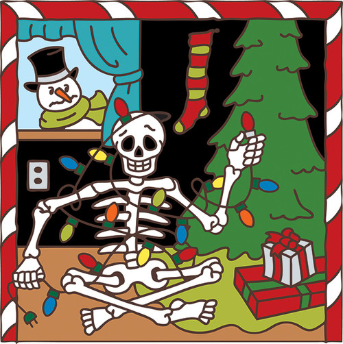 6x6 Tile Day of the Dead Christmas 7498A