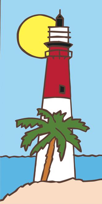 3x6 Lighthouse Deco