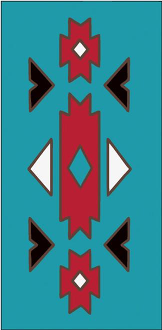 3x6 Tile Southwest Native Border Turquoise