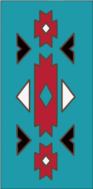 3x6 Tile Southwest Native Border Turquoise