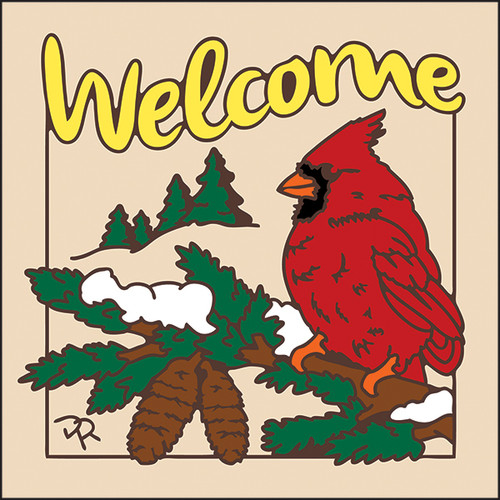 6x6 Tile Welcome Cardinal Sand 7953A