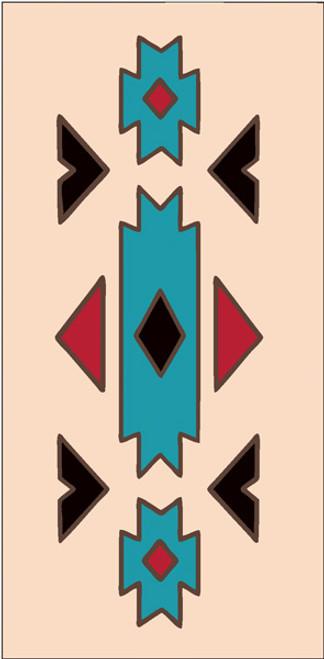 3x6 Tile Southwest Native Border Sand