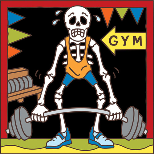 6x6 Tile Day of the Dead Weight Lifter7581A