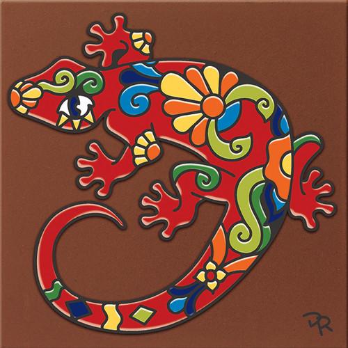 """6X6 Tile Talavera Gecko """"Naturals"""""""