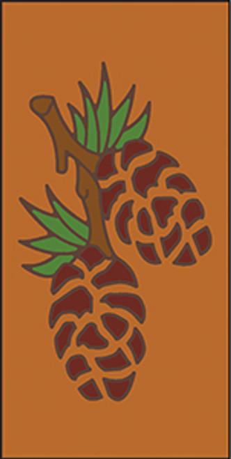 3x6 Tile Pine Cones Terracotta