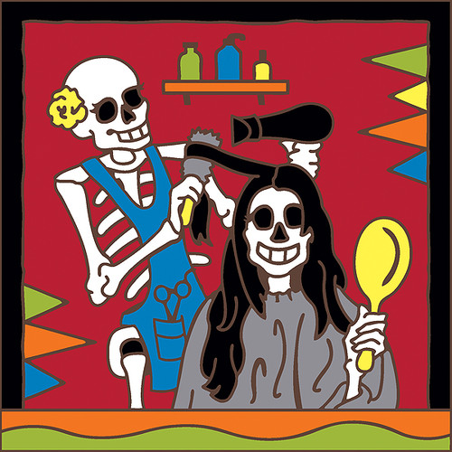 6x6 Tile Day of the Dead Hairdresser