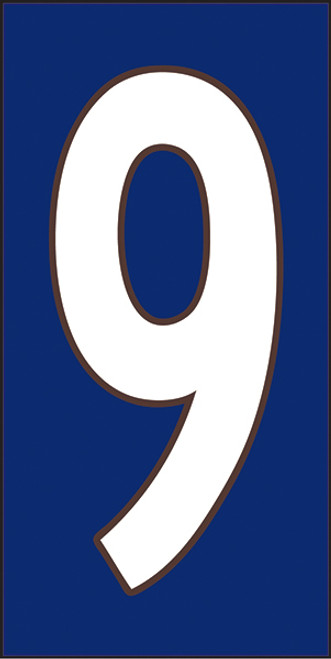 33X6 Number 9 Cobalt Background