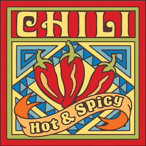 6x6 Tile Hot and Spicy Chili