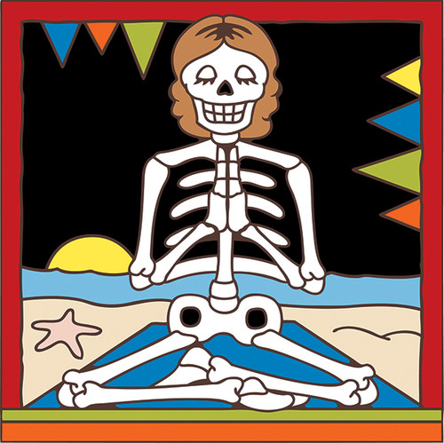 6x6 Tile Day of the Dead Yoga 7588A