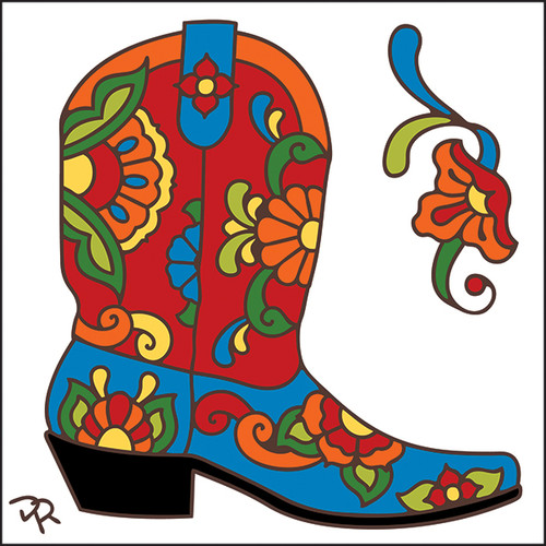 6x6 Tile Talavera Boot White 8009W