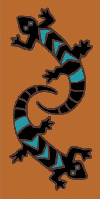 3x6 Deco Gecko Brown