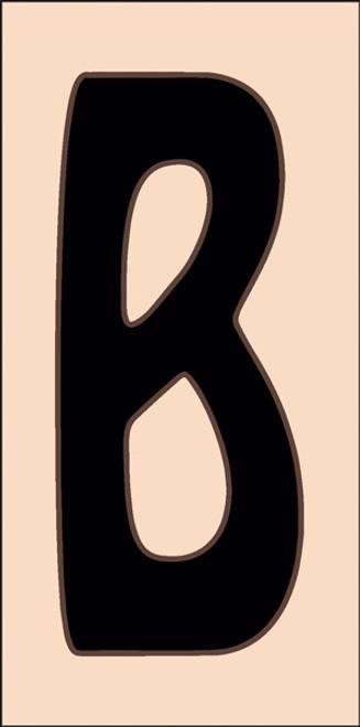 3x6 Tile House Letter B Sand