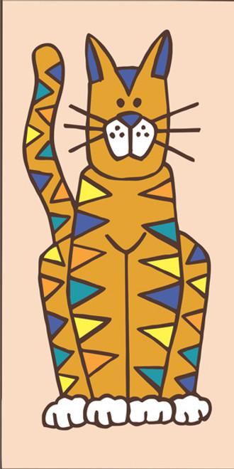 3x6 Tile Cat (Sand)