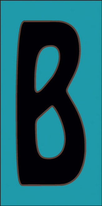 3x6 Tile House Letter B Turquoise