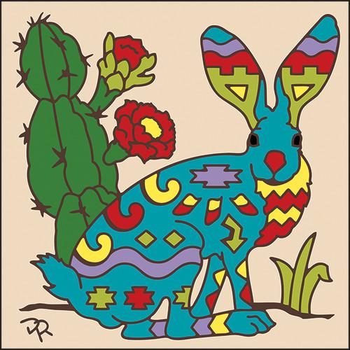 6x6 Tile Southwest Jack Rabbit 7991A