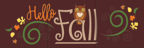 "6""x18"" Tile Sign Hello Fall"