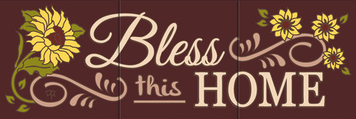 """6""""x18"""" Tile Sign Bless This Home"""