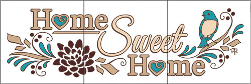 """6""""x18"""" Tile Sign Home Sweet Home"""