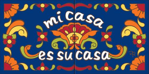 """6""""x12"""" Tile Sign Mi Casa Es Su Casa"""
