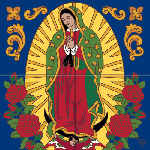 Tile Mural Our Lady of Guadalupe II