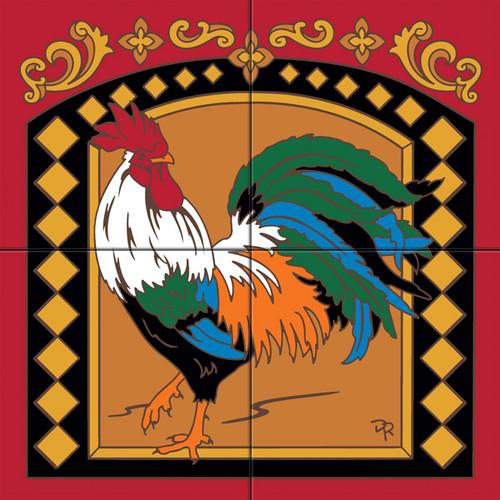 Tile Mural Vintage Rooster