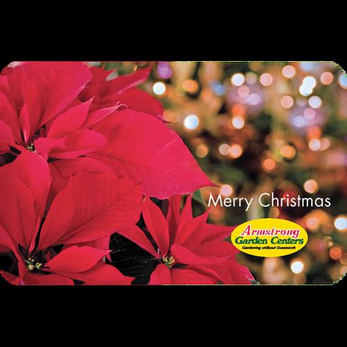 Digital Christmas Twinkling Poinsettia eGift Card
