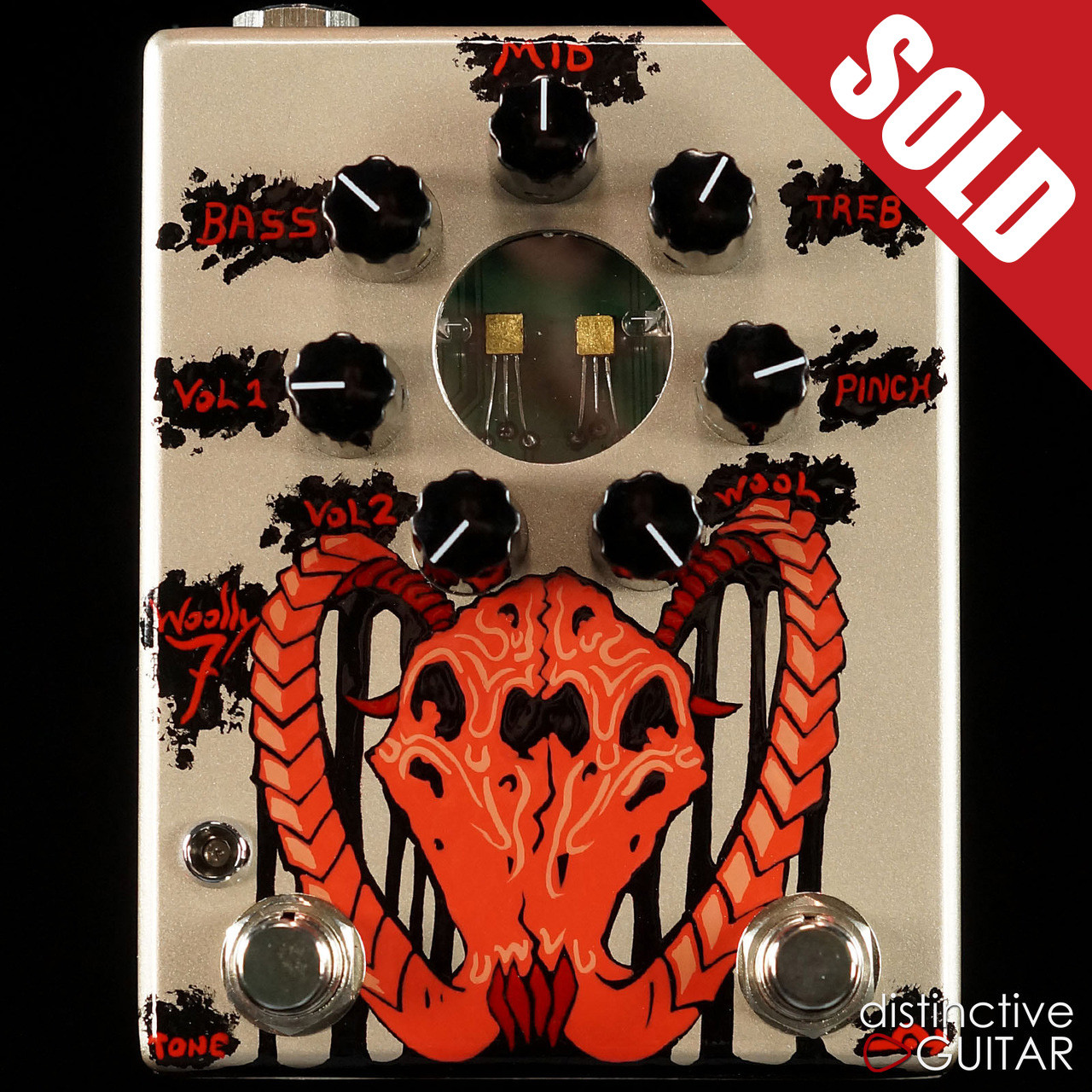 NEW Zvex Effects Woolly Mammoth 7 Hand Painted Fuzz Pedal