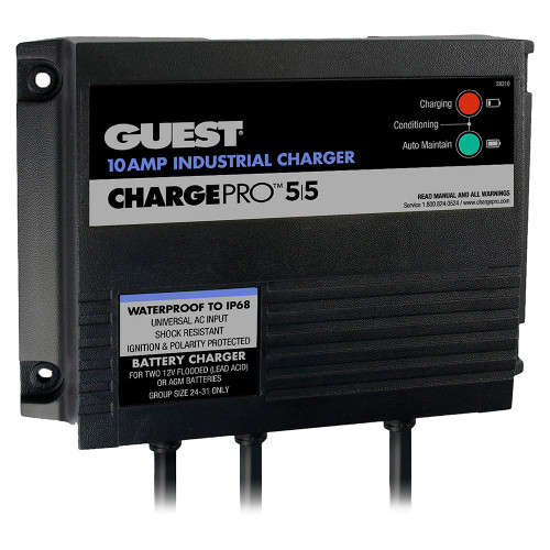 12V 2 Bank 120V Input Guest 2720A On-Board Battery Charger 20A