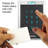 ACCESS CONTROL BLACK WITH CLEAR BORDER CARD READER AND KEYPAD - 356-3103 LED indicator