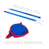 Soccer Wall Club Collapsible Mannequin Collapsible Design