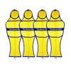 Soccer Wall Club Free Kick Mannequin Yellow