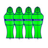 Soccer Wall Club Free Kick Mannequin Green