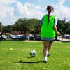 Premium Soccer Bibs Set Green action shot