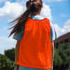 Premium Soccer Bibs Adult Set Neon Orange Back View